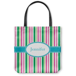 """Grosgrain Stripe Canvas Tote Bag - Large - 18""""x18"""" (Personalized)"""