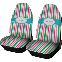 Grosgrain Stripe Car Seat Covers (Set of Two) (Personalized)
