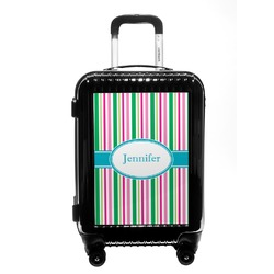 Grosgrain Stripe Carry On Hard Shell Suitcase (Personalized)