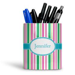 Grosgrain Stripe Ceramic Pen Holder