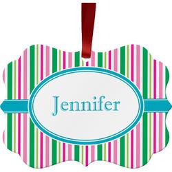 Grosgrain Stripe Ornament (Personalized)