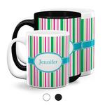 Grosgrain Stripe Coffee Mugs (Personalized)