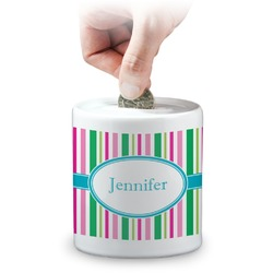 Grosgrain Stripe Coin Bank (Personalized)