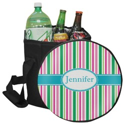 Grosgrain Stripe Collapsible Cooler & Seat (Personalized)