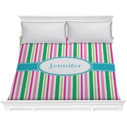 Grosgrain Stripe Comforter - King (Personalized)