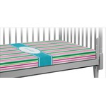Grosgrain Stripe Crib Fitted Sheet (Personalized)