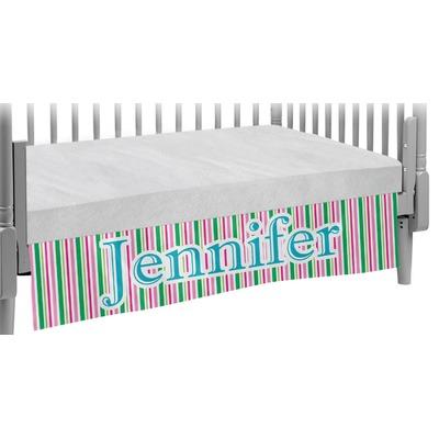 Grosgrain Stripe Crib Skirt (Personalized)