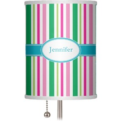 "Grosgrain Stripe 7"" Drum Lamp Shade (Personalized)"