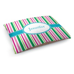 Grosgrain Stripe Dog Bed (Personalized)