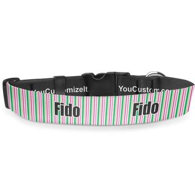 Grosgrain Stripe Deluxe Dog Collar (Personalized)