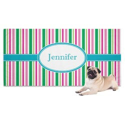 Grosgrain Stripe Dog Towel (Personalized)