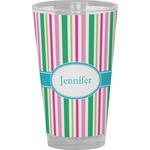 Grosgrain Stripe Drinking / Pint Glass (Personalized)