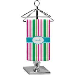 Grosgrain Stripe Finger Tip Towel - Full Print (Personalized)