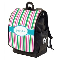 Grosgrain Stripe Backpack w/ Front Flap  (Personalized)
