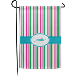Grosgrain Stripe Garden Flag - Single or Double Sided (Personalized)