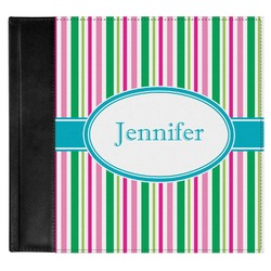 Grosgrain Stripe Genuine Leather Baby Memory Book (Personalized)