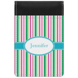 Grosgrain Stripe Genuine Leather Small Memo Pad (Personalized)