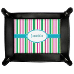 Grosgrain Stripe Genuine Leather Valet Tray (Personalized)