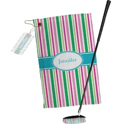 Grosgrain Stripe Golf Towel Gift Set (Personalized)