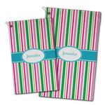Grosgrain Stripe Golf Towel - Full Print w/ Name or Text