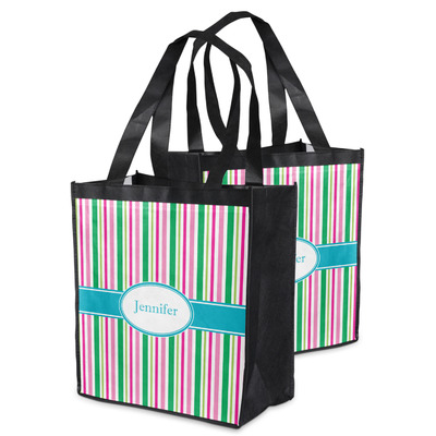 Grosgrain Stripe Grocery Bag (Personalized)
