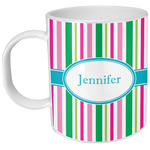 Grosgrain Stripe Plastic Kids Mug (Personalized)