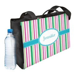 Grosgrain Stripe Ladies Workout Bag (Personalized)
