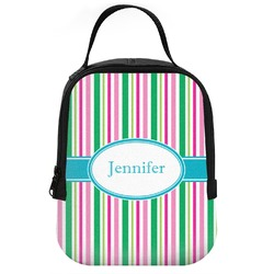 Grosgrain Stripe Neoprene Lunch Tote (Personalized)