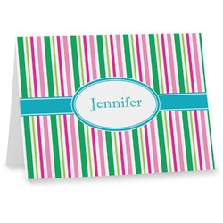 Grosgrain Stripe Notecards (Personalized)