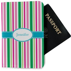 Grosgrain Stripe Passport Holder - Fabric (Personalized)