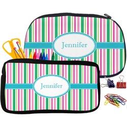 Grosgrain Stripe Pencil / School Supplies Bag (Personalized)
