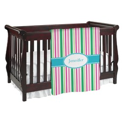 Grosgrain Stripe Baby Blanket (Personalized)