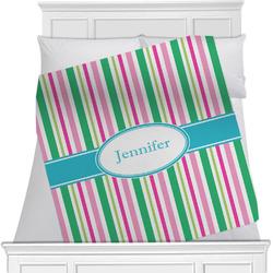 Grosgrain Stripe Minky Blanket (Personalized)