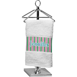 Grosgrain Stripe Finger Tip Towel (Personalized)