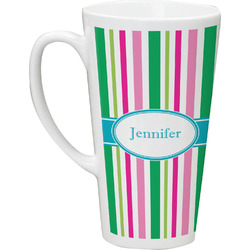 Grosgrain Stripe Latte Mug (Personalized)