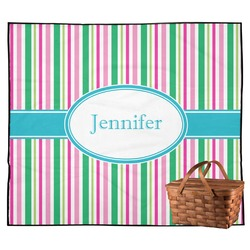 Grosgrain Stripe Outdoor Picnic Blanket (Personalized)