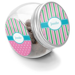 Grosgrain Stripe Puppy Treat Jar (Personalized)