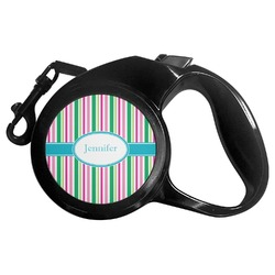 Grosgrain Stripe Retractable Dog Leash (Personalized)