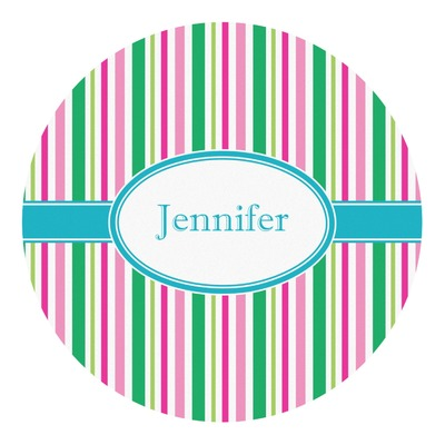 Grosgrain Stripe Round Decal (Personalized)