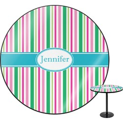 Grosgrain Stripe Round Table (Personalized)