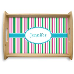 Grosgrain Stripe Natural Wooden Tray - Small (Personalized)