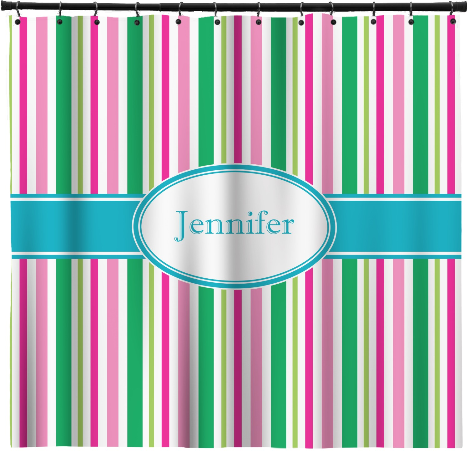 Grosgrain Stripe Shower Curtain 69 X70 Personalized You Customize It