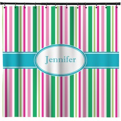 Grosgrain Stripe Shower Curtain (Personalized)