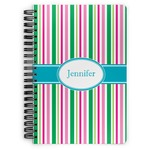 Grosgrain Stripe Spiral Bound Notebook (Personalized)