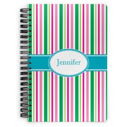 Grosgrain Stripe Spiral Notebook (Personalized)