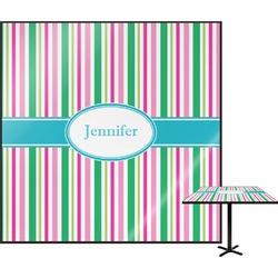 Grosgrain Stripe Square Table Top (Personalized)