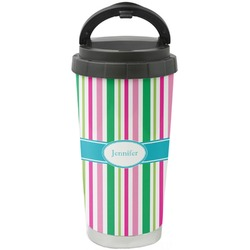 Grosgrain Stripe Stainless Steel Travel Mug (Personalized)