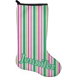 Grosgrain Stripe Christmas Stocking - Neoprene (Personalized)