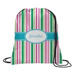 Grosgrain Stripe Drawstring Backpack (Personalized)