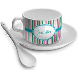 Grosgrain Stripe Tea Cups (Personalized)